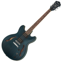 Ibanez AS53-TBF Artcore 6 String RH Semi-Hollowbody Electric Guitar-Transparent Blue Flat