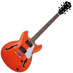 Ibanez AS63-TLO Artcore Vibrante 6 String RH Semi-Hollowbody Electric Guitar-Twilight Orange