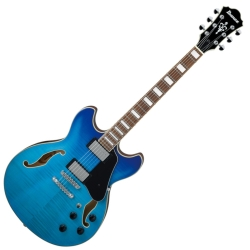 Ibanez AS73FM-AZG Artcore Flamed Maple 6 String RH Semi-Hollowbody Electric Guitar-Azure Blue Gradation
