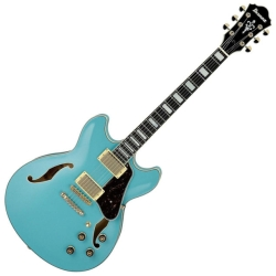 Ibanez AS73G-MTB Artcore Series Hollow-Body 6-String RH Electric Guitar-Mint Blue (discontinued clearance)