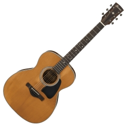 Ibanez AVC11-ANS Artwood Vintage Thermo Grand Concert 6 String RH Acoustic Guitar-Antique Natural Semi-Gloss