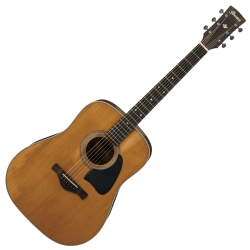 Ibanez AVD11-ANS Artwood Vintage Thermo Dreadnought 6 String RH Acoustic Guitar-Antique Natural Semi-Gloss