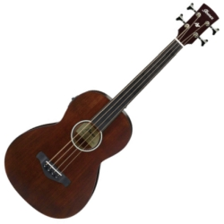 Ibanez AVNB1FE-BV Artwood Fretless 4-String RH Acoustic-Electric Bass-Brown Violin