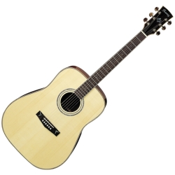 Ibanez AW500KNT 6-String RH Dreadnought Acoustic Guitar-Discontinued Clearance
