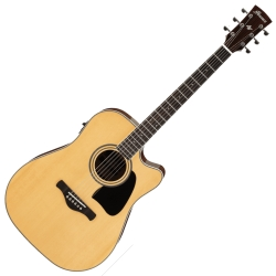 Ibanez AW70ECE-NT Artwood Series 6 String RH Acoustic Electric Guitar-Natural High Gloss