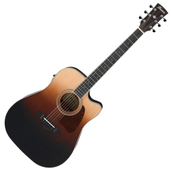 Ibanez AW80CE-BLG Artwood Dreadnought 6 String RH Acoustic Electric Guitar-Brown Ale Gradation
