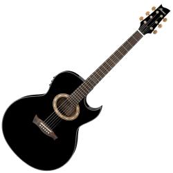 Ibanez EP5-BP Euphoria Series Steve Vai Signature 6 String RH Acoustic Electric Guitar-Black Pearl High Gloss