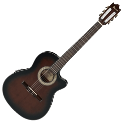 Ibanez GA35TCE-DVS Thinline Classic 6 String RH Classical Acoustic Electric Guitar-Dark Violin Sunburst High Gloss