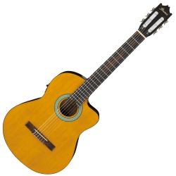 Ibanez GA3ECE-AM 6 String RH Classical Acoustic Electric Nylon String Guitar-Amber Finish