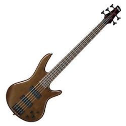 Ibanez GSR205B-WNF GIO Series 5 String RH Electric Bass-Walnut Flat
