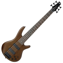 Ibanez GSR206B-WNF GIO Series 6 String RH Electric Bass-Walnut Flat