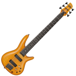 Ibanez GVB36-AM Gerald Veasley Signature 6 String RH Electric Bass-Amber