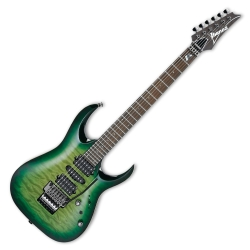 Ibanez KIKO200-GMT Kiko Loureiro Prestige Signature 6 String RH Electric Guitar with Case-Green Mist Burst
