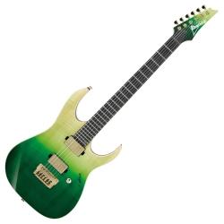 Ibanez LHM1-TGG Luke Hoskin Protest the Hero Signature 6 String RH Electric Guitar with Gigbag-Transparent Green Gradation