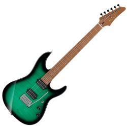 Ibanez MSM100-FGB Marco Sfogli Signature 6 String RH Electric Guitar with Case-Fabula Green Burst