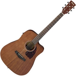 Ibanez PF12MHCE-OPN Performance Series Mahogany 6-String RH Dreadnought Acoustic/Electric Guitar Satin Natural-discontinued clearance