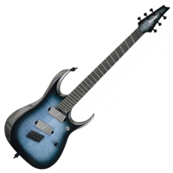 Ibanez RGD61ALMS-CLL Axion Label 6 String RH Electric Guitar-Cerulean Blue Burst Low Gloss