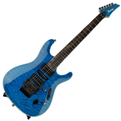 Ibanez S6570Q-NBL Prestige Series 6 String RH Electric Guitar-Natural Blue