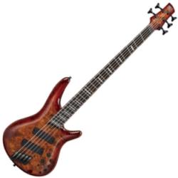 Ibanez SRMS805-BTT Workshop 5-String Multi-Scale RH Electric Bass-Brown Topaz Burst