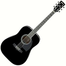 Ibanez PF15-BK PF Performance Series 6 String RH Acoustic Guitar - Black
