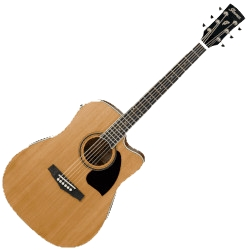 Ibanez PF17ECE-LG Acoustic Electric 6 String RH Guitar w/ Cutaway - Natural Low Gloss
