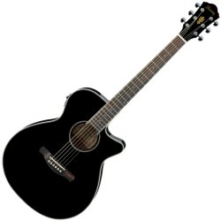 Ibanez AEG8E-BK-d Acoustic Electric 6 String Guitar – Black High Gloss (discontinued clearance)  (Prior Year Model)