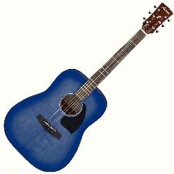 Ibanez PF18-WDB 6 String RH Dreadnought Acoustic Guitar - Weathered Denim Blue