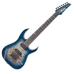Ibanez RG1027PBF-CBB Premium 7 String RH Electric Guitar w/Case - Cerulean Blue Burst