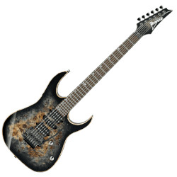 Ibanez RG1070PBZ-CKB RG Premium 6 String RH Electric Guitar with case - Charcoal Black Burst