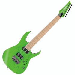 Ibanez Prestige RGR5227MFX-TFG 7-String RH Electric Guitar - Transparent Fluorescent Green