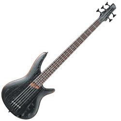Ibanez SR675-SKF 5-String RH Bass - Silver Wave Black Flat