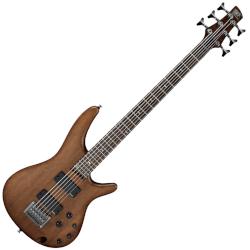 Ibanez SRC6-WNF Bass Workshop SR Crossover 6-String RH Electric Bass - Flat Walnut