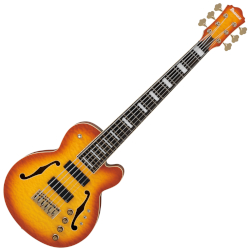 "Ibanez TCB1006ALM Stephen ""Thundercat"" Bruner Signature Series 6-String RH Electric Bass Guitar - Autumn Leaf Burst Matte"