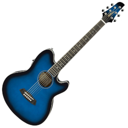 Ibanez TCY10ETBS Talman Series 6 String RH Acoustic-Electric Guitar - Transparent Blue Sunburst