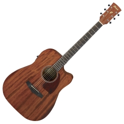 Ibanez PF12MHCE-OPN PF Performance Series Acoustic Electric 6 String RH Guitar - Natural, Open Pore
