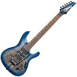 Ibanez S1070PBZ-CLB S Premium Series 6 String Electric Guitar - Cerulean Blue Burst