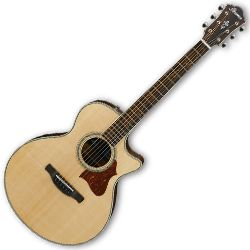 Ibanez AE205JR-OPN AE Series Open Pore Natural 6 String RH Acoustic Electric Guitar