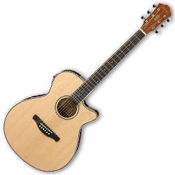 Ibanez AEG8E-NT-d AEG Series 6 String RH Acoustic Electric Guitar in Natural High Gloss (discontinued clearance)  (Prior Year Model)