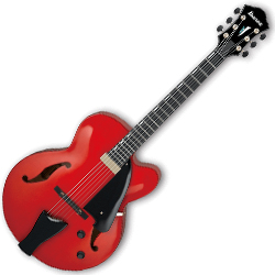 Ibanez AFC151-SRR Contemporary Archtop Series 6 String RH Hollowbody Guitar in Sunrise Red
