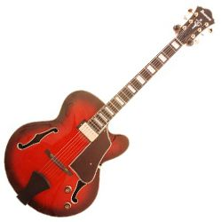 Ibanez AFJ81-SRD Artcore Series 6 String RH Hollowbody Guitar in Sunset Red (discontinued clearance)