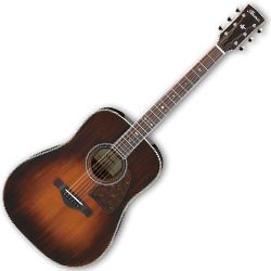 Ibanez AVD10E-BVS Artwood Vintage Thermo Aged Brown Violin Sunburst 6 String Acoustic Electric Guitar