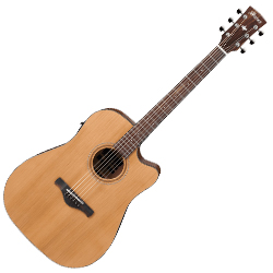 Ibanez AW65ECE-LG Artwood Series 6 String RH Acoustic Electric Guitar-Natural Low Gloss