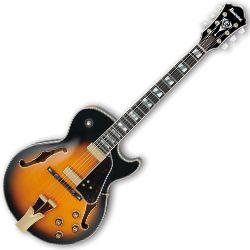 Ibanez GB10SE-BS George Benson Signature 6 String RH Hollowbody Guitar in Brown Sunburst