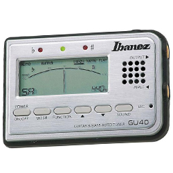 Ibanez GU40-d Tuner for Guitar and Bass with speaker and microphone (discontinued clearance)
