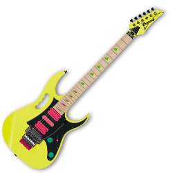 Ibanez JEM777-DY Steve Vai Signature 6 String RH Electric Guitar in Desert Sun Yellow