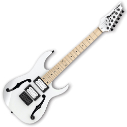 Ibanez PGMM31-WH Paul Gilbert Signature 6 String RH Electric Guitar in White