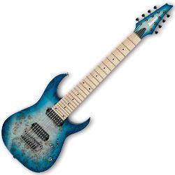 Ibanez RG852MPB-GFB RG Prestige Series 8 String RH Electric Guitar in Ghost Fleet Blue Burst