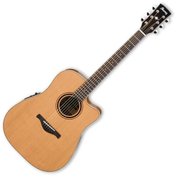 Ibanez AW250ECELG Low Gloss Artwood Traditional Acoustic Electric 6-String Right Hand Guitar with Equalizer (discontinued clearance)