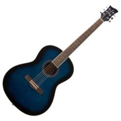 Jay Turser JTA524BLSB Full Size Concert 6-String RH Acoustic Guitar-Blue Sunburst