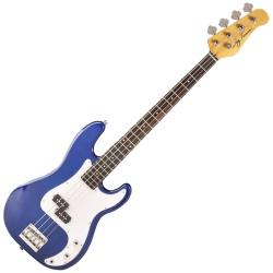 Jay Turser JTB-400C-TBL 4-String RH Electric Bass-Transparent Blue